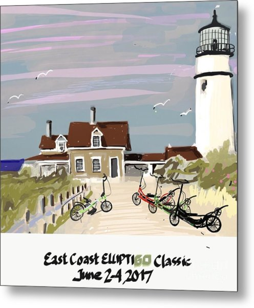 Elliptigo Art Metal Print