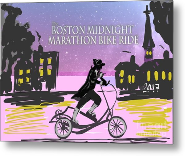 elliptigo meets the Midnight Ride Metal Print