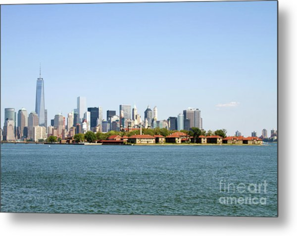 Metal Print featuring the photograph Ellis Island New York City by Steven Frame