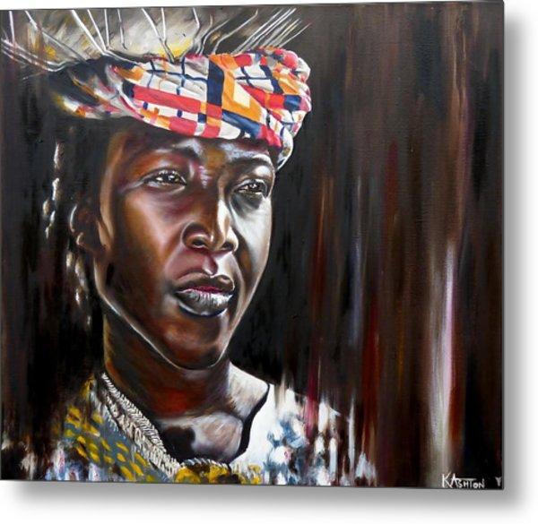 Elodie - African Lady Metal Print