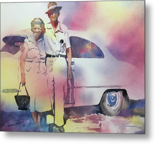 Elsie And Barney Shields Metal Print