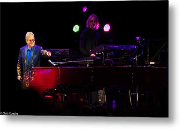 Elton - Enjoying The Show Metal Print