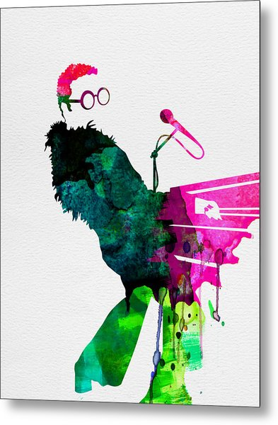 Elton Watercolor Metal Print