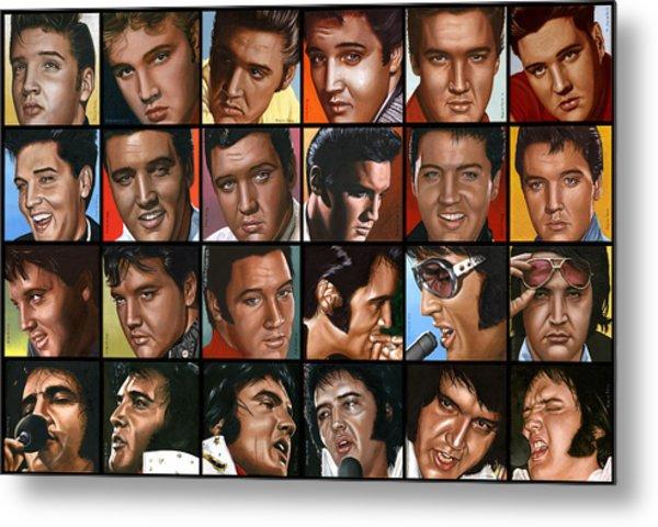 Elvis 24 Metal Print