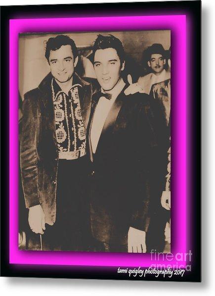Elvis And Johnny Metal Print