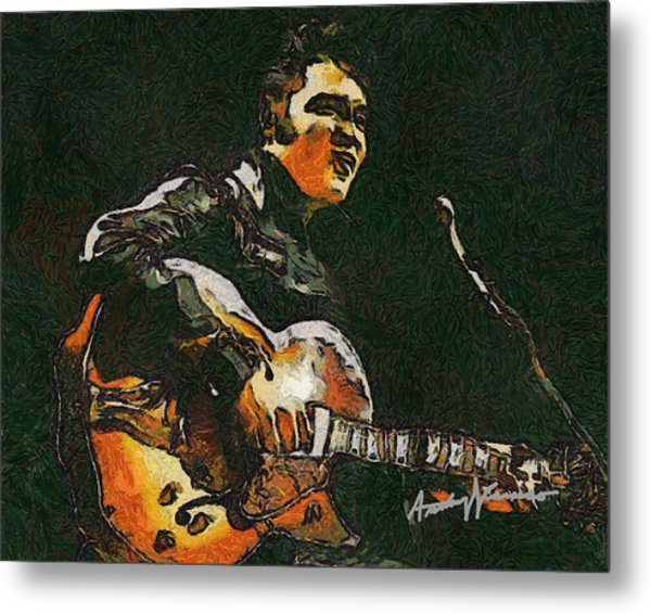 Elvis Metal Print by Anthony Caruso