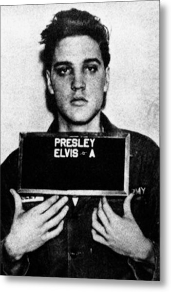 Elvis Presley Mug Shot Vertical 1 Metal Print