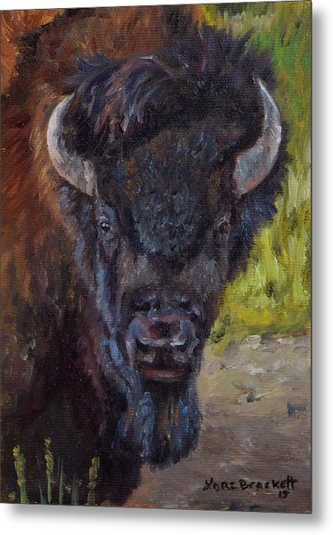 Elvis The Bison Metal Print