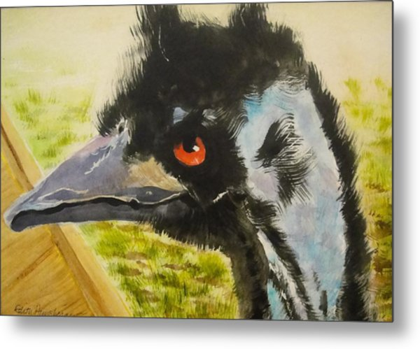Elvis The Emu Metal Print