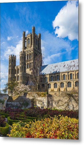 Ely Cathedral And Garden Metal Print