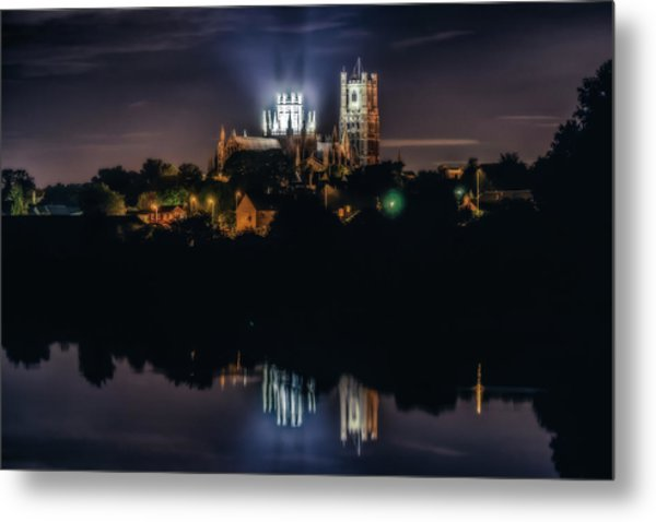 Ely Cathedral By Night Metal Print