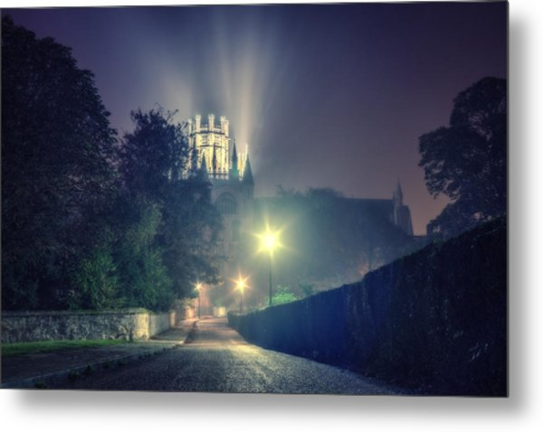 Ely Cathedral - Night Metal Print
