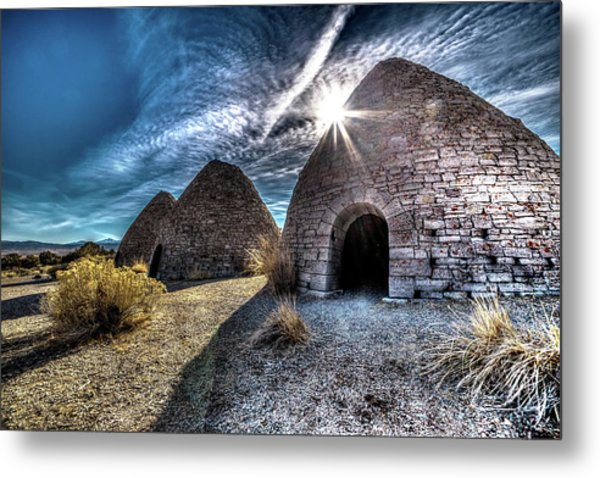 Ely Charcoal Ovens Metal Print by Bryan Moore