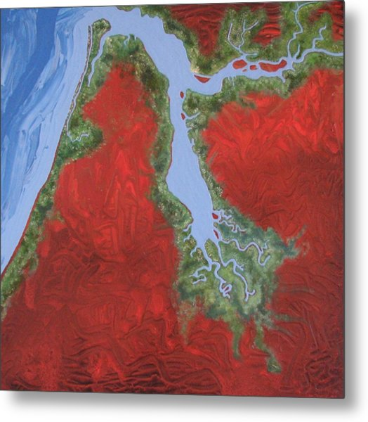 Embly And Hay Rivers Metal Print
