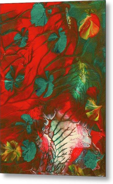 Emerald Butterfly Island Metal Print