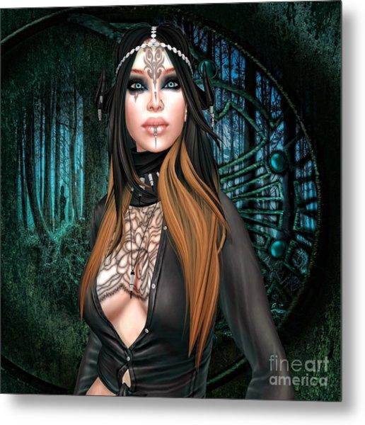 Emerald Cabachon Metal Print