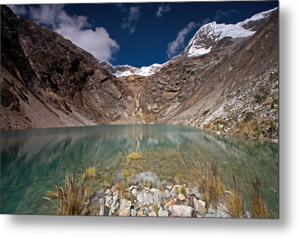 Emerald Mountain Lake Metal Print