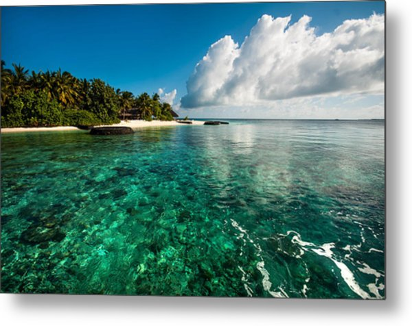 Emerald Purity. Maldives Metal Print
