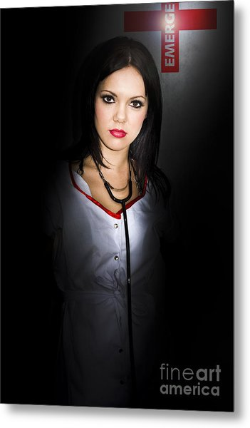 Emergency Department Nurse Metal Print