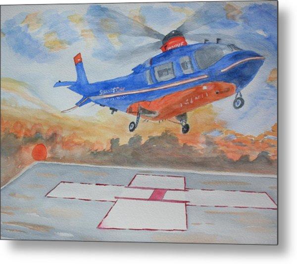 Emergency Landing Metal Print