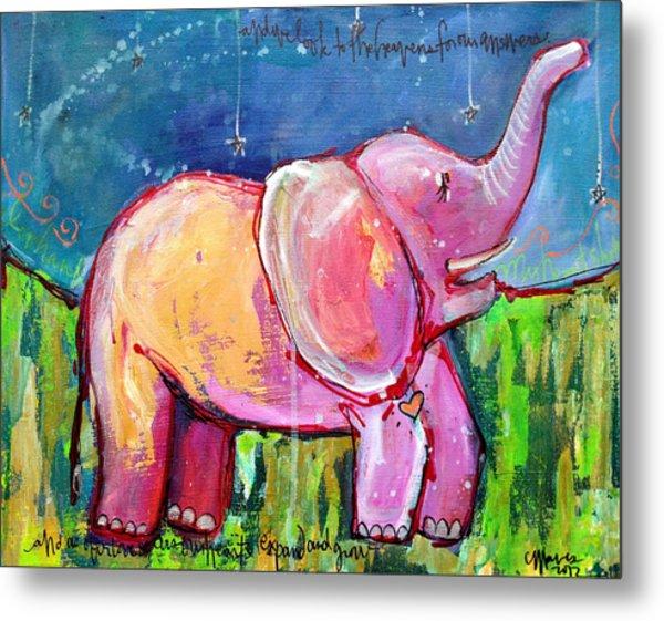 Emily's Elephant 2 Metal Print