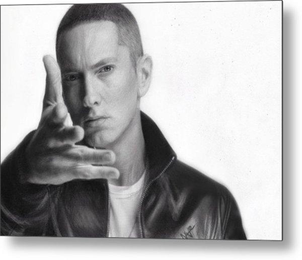 Eminem Metal Print by Nat Morley