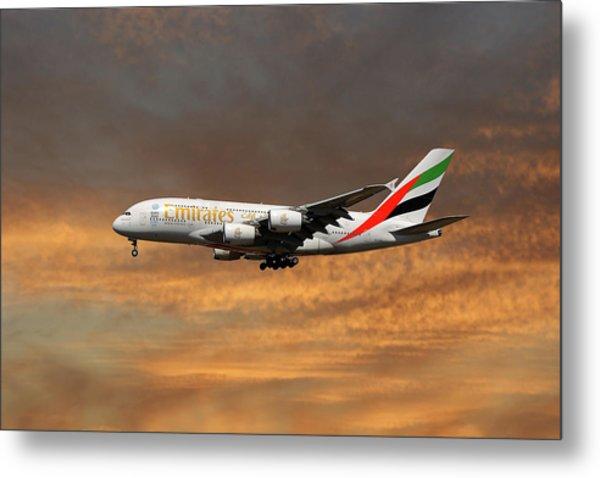 Emirates Airbus A380-861 3 Metal Print