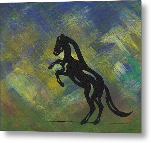 Emma - Abstract Horse Metal Print