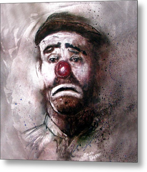 Emmit Kelly Clown Metal Print