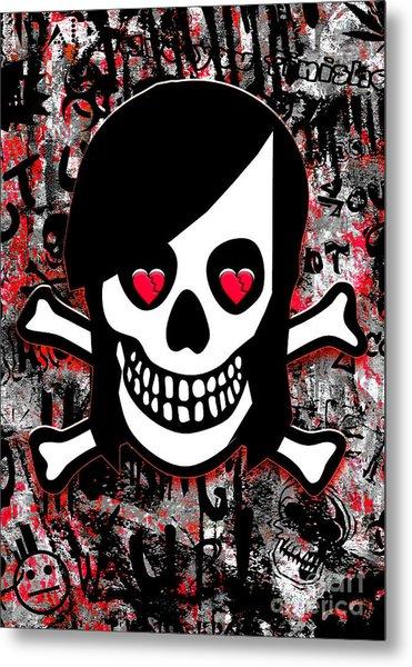 Emo Heart Breaker Metal Print