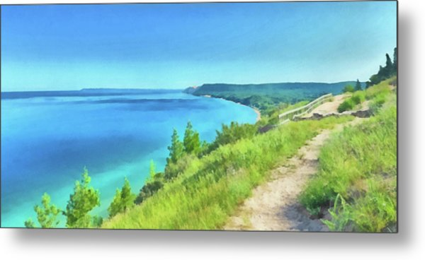 Metal Print featuring the digital art Empire Bluffs  by Digital Photographic Arts