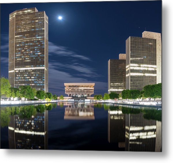 Empire State Plaza Metal Print