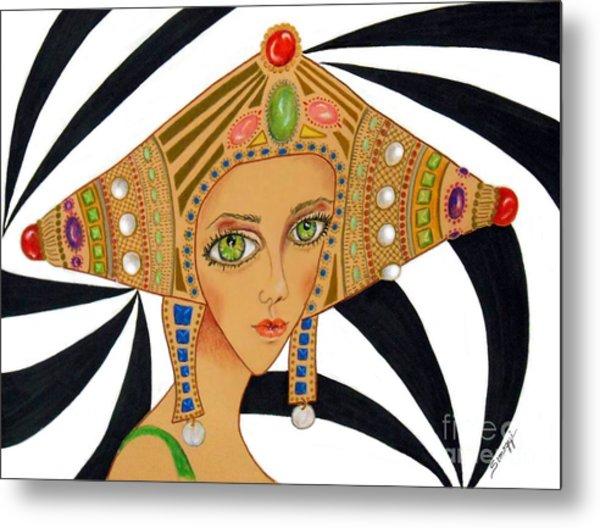 Empress Exotica -- Whimsical Exotic Woman Metal Print