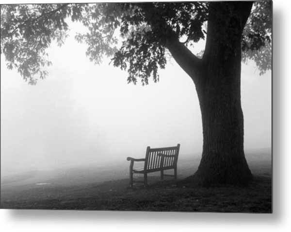 Empty Bench Metal Print