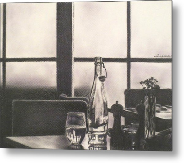 Empty Glass Metal Print