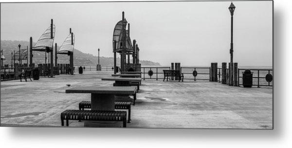 Empty Pier Metal Print