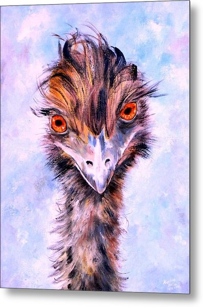 Emu Eyes Metal Print