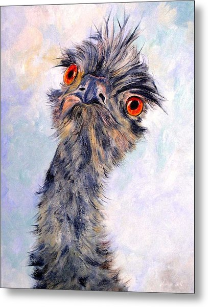 Emu Twister Metal Print
