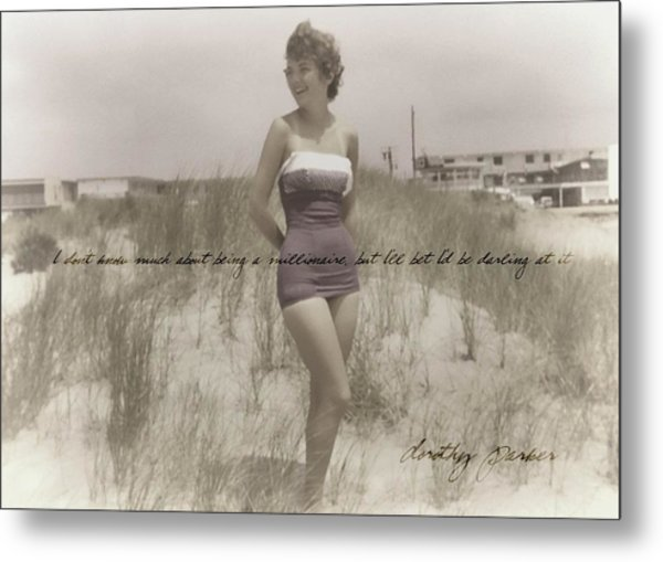 Emulating Marilyn Quote Metal Print by JAMART Photography