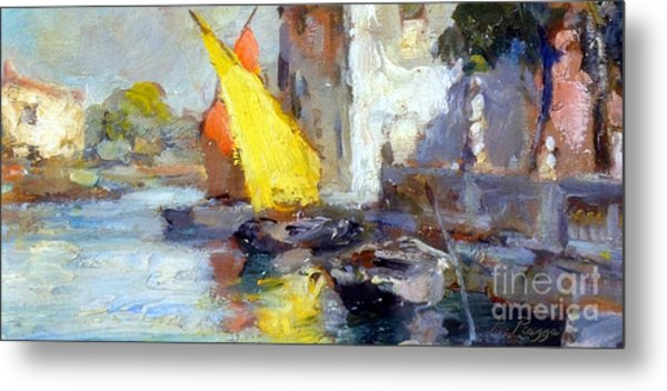 En Plein Air In Venice Metal Print