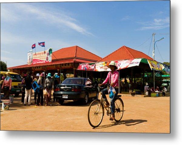 En Route To Siem Reap Metal Print