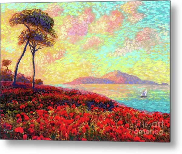Enchanted By Poppies Metal Print