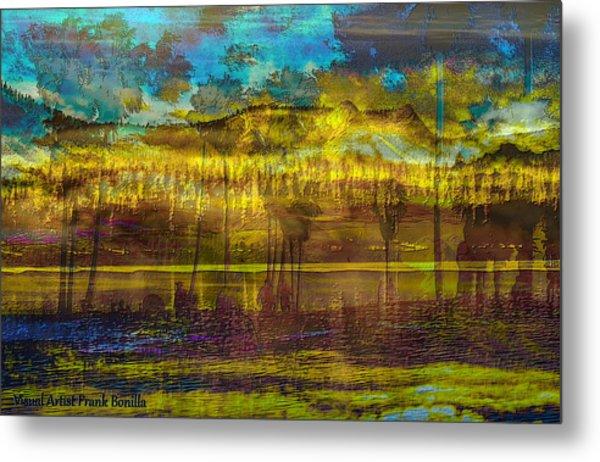Metal Print featuring the digital art Enchanted Land by Visual Artist Frank Bonilla