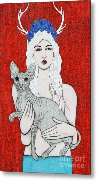 Metal Print featuring the mixed media Enchanted by Natalie Briney