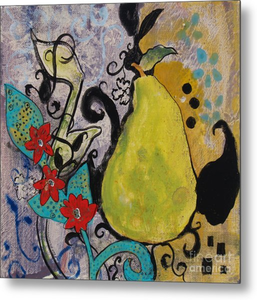 Enchanted Pear Metal Print