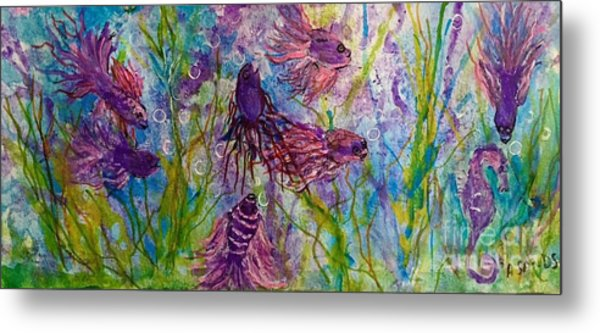 Enchanted Sealife Party Metal Print