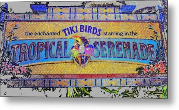 Enchanted Tiki Birds Metal Print