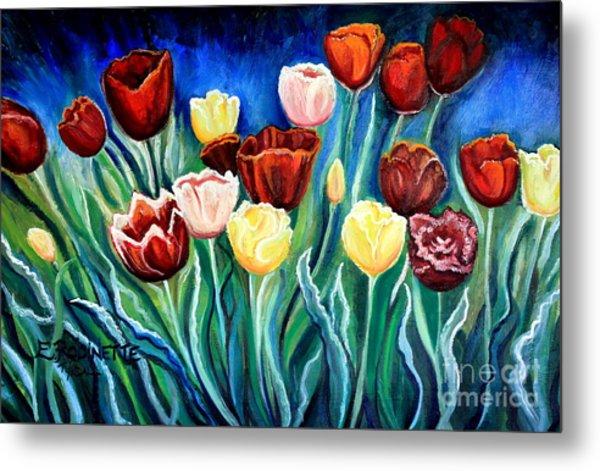 Enchanted Tulips Metal Print