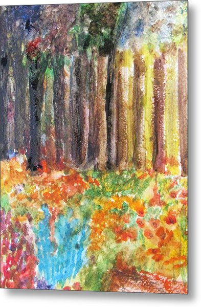 Enchanted Woods Metal Print by Trilby Cole