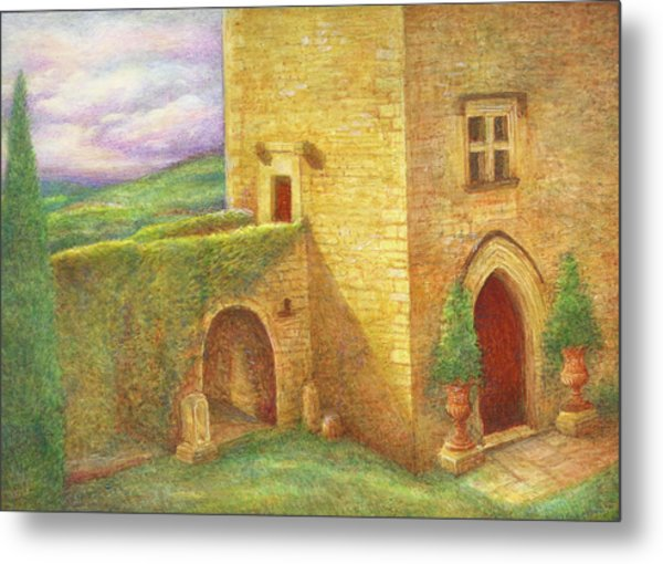 Enchanting Fairytale Chateau Landscape Metal Print